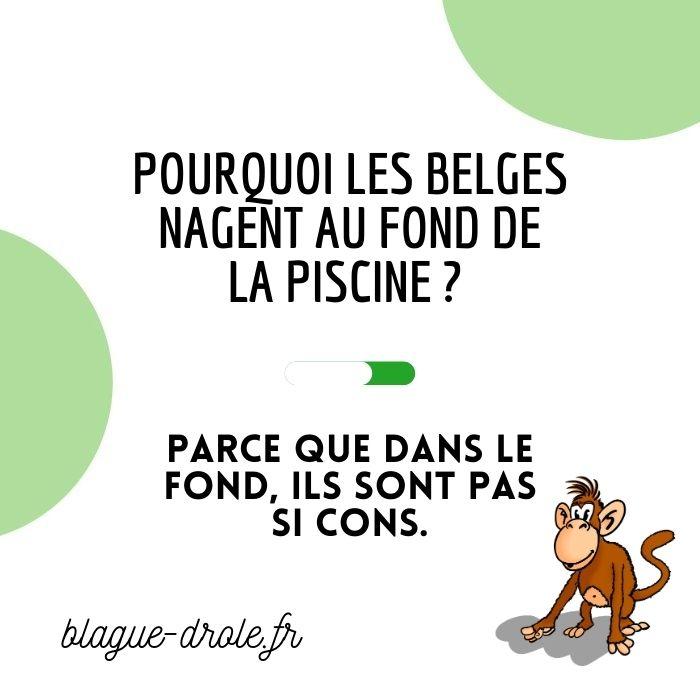Blague drôle belges et piscine
