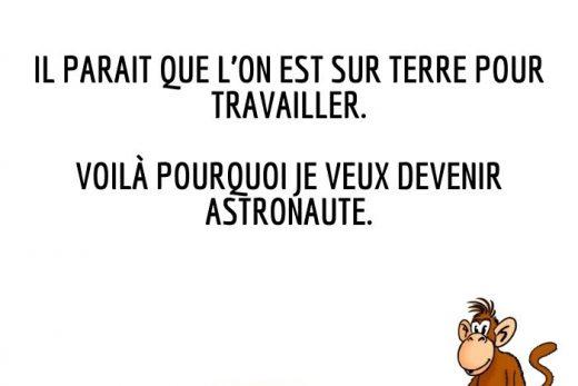 humour et blague astronaute