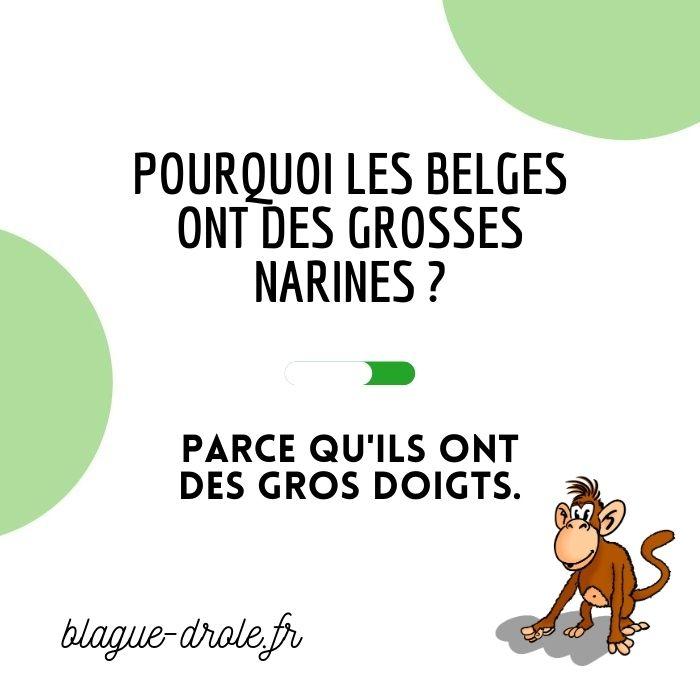 blague belge gros nez
